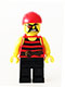 Minifig No: pi159  Name: Pirate 1 - Black and Red Stripes, Black Legs, Eyepatch