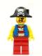 Minifig No: pi180  Name: Pirate Captain - White Plume Feather