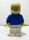 Minifig No: pln128  Name: Plain Blue Torso with Blue Arms, White Legs, White Classic Helmet, Airtanks
