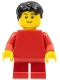 Minifig No: pln180  Name: Plain Red Torso with Red Arms, Red Short Legs