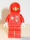 Minifig No: rac025cs  Name: F1 Ferrari Pit Crew Member - with Torso Stickers on Front and Back