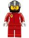 Minifig No: sc001  Name: Ferrari Race Car Driver 1