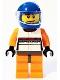 Minifig No: sc008  Name: Porsche Race Car Driver 2