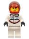 Minifig No: sc054  Name: Porsche 919 Hybrid Driver, Red Helmet