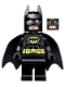 Minifig No: sh016a  Name: Batman - Black Suit with Yellow Belt and Crest (Type 2 Cowl)