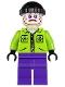 Minifig No: sh020  Name: The Joker's Henchman - Lime Jacket