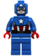 Minifig No: sh106  Name: Captain America - Blue Suit, Brown Belt