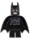 Minifig No: sh132  Name: Batman - Black Suit with Copper Belt, Type 2 Cowl (76023)