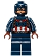 Minifig No: sh177  Name: Captain America - Detailed Suit