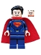 Minifig No: sh219  Name: Superman - Dark Blue Suit, Tousled Hair