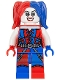 Minifig No: sh260  Name: Harley Quinn - Blue and Red Hands and Pigtails