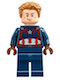 Minifig No: sh264  Name: Captain America - Detailed Suit - Dark Brown Eyebrows