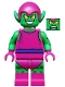 Minifig No: sh271  Name: Green Goblin  - Magenta Outfit (76057)