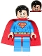 Minifig No: sh300  Name: Superman - Red Eyes on Reverse, Spongy Soft Knit Cape