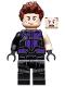 Minifig No: sh302  Name: Hawkeye - Black and Dark Purple Suit