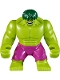 Minifig No: sh371  Name: Hulk - Giant, Magenta Pants, Dark Green Hair (76078)