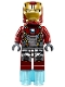 Minifig No: sh405  Name: Iron Man Silver Armor - Arc Reactor on Chest (76083)