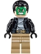 Minifig No: sh421  Name: Masked Robber - Green Mask, Striped Shirt