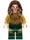 Minifig No: sh429  Name: Aquaman - Dark Brown Long Hair