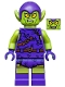 Minifig No: sh545  Name: Green Goblin - Dark Purple Outfit