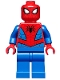 Minifig No: sh546  Name: Spider-Man - Dark Red Web Pattern, Blue Legs