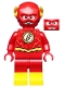 Minifig No: sh549  Name: The Flash - Gold Outlines on Chest and Yellow Boots