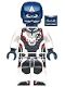 Minifig No: sh560  Name: Captain America - White Jumpsuit, Helmet