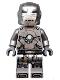 Minifig No: sh565  Name: Iron Man Mark 1 Armor (Trans-Clear Head)