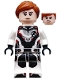 Minifig No: sh571  Name: Black Widow - White Jumpsuit