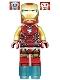 Minifig No: sh573  Name: Iron Man (Pearl Gold Arms)