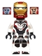Minifig No: sh575  Name: Iron Man - White Jumpsuit, Neck Bracket