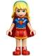 Minifig No: shg006  Name: Supergirl - Red Skirt (41232)
