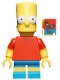 Minifig No: sim008  Name: Bart Simpson with Slingshot in Back Pocket Pattern - Minifigure only Entry