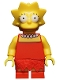 Minifig No: sim010  Name: Lisa Simpson with Wide Open Eyes - Minifigure only Entry