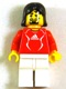 Minifig No: soc133s  Name: Soccer Player Red - Adidas Logo, Red and White Torso Stickers (#15)