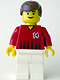 Minifig No: soc137  Name: Soccer Player Red/White Team with shirt #14