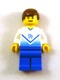 Minifig No: soc139  Name: Soccer Player White & Blue Team with shirt #14