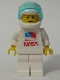 Minifig No: sp065  Name: Shuttle Astronaut with NASA Sticker on Torso (set 1682)