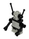 Minifig No: sp073  Name: Classic Space Droid - Hinge Base, Light Gray with Black Arms and Antennae