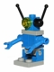 Minifig No: sp076  Name: Classic Space Droid - Plate Base, Blue and Light Gray with Trans-Yellow Eye and Black Antennae