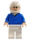 Minifig No: sr001  Name: Speed Racer, Blue Pullover