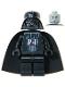 Minifig No: sw0004  Name: Darth Vader (Light Gray Head)
