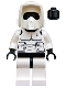 Minifig No: sw0005a  Name: Scout Trooper (Black Head, Dark Bluish Gray Torso Pattern)