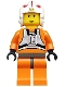 Minifig No: sw0019  Name: Luke Skywalker with Dark Gray Hips (Pilot)