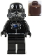 Minifig No: sw0035  Name: TIE Fighter Pilot (Brown Head)