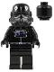 Minifig No: sw0035b  Name: TIE Interceptor Pilot (Black Head)