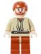 Minifig No: sw0152  Name: Obi-Wan Kenobi, Dark Orange Legs, Light Flesh Head with Headset