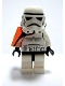 Minifig No: sw0199  Name: Sandtrooper - Orange Pauldron (Solid), No Survival Backpack, No Dirt Stains, Helmet with Dotted Mouth Pattern and Solid Black Head
