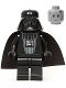 Minifig No: sw0214  Name: Darth Vader (Imperial Inspection - Eyebrows)