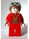 Minifig No: sw0340  Name: Naboo Fighter Pilot - Red Jumpsuit